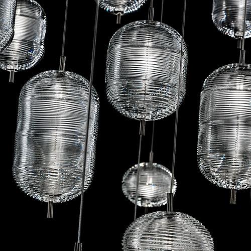 Studio Italia Design Jefferson LED Glas Hängelampe 1