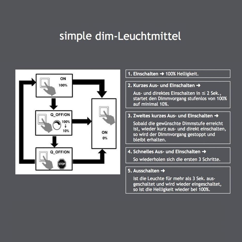 G9 Profi LED dimmbar per Schalter 350lm Warmweiß 2