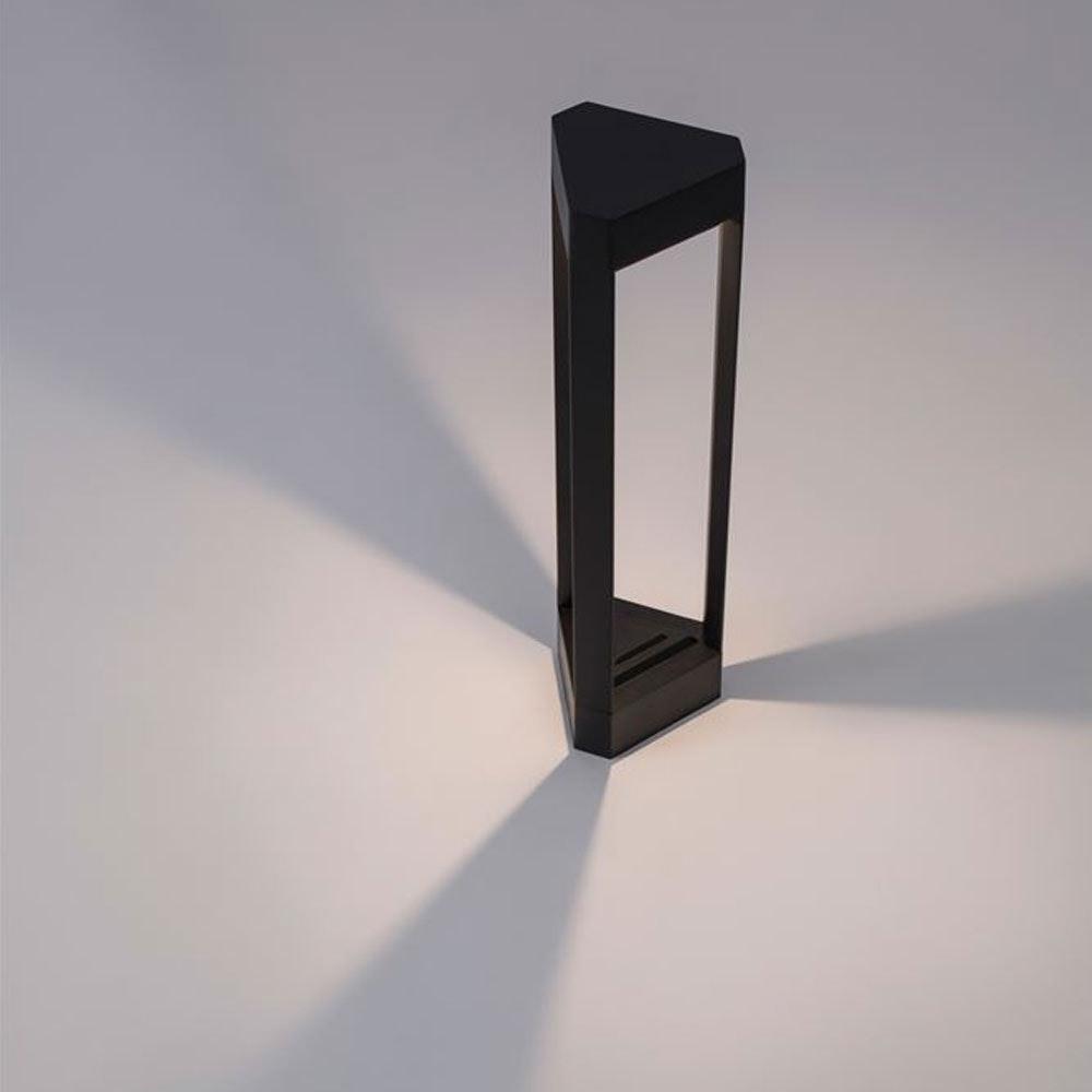 Nova Luce Pax Pollerleuchte Dreieck LED Schwarz 1