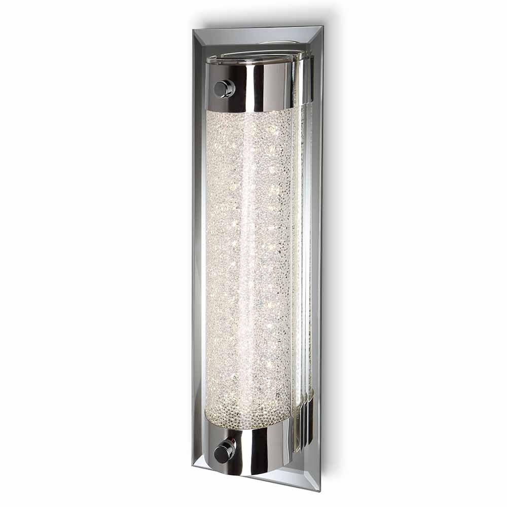 Mantra LED Wandlampe Tube Chrom Glas