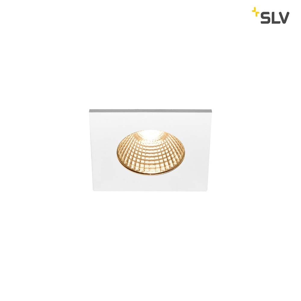 SLV Patta-I LED Aussen-Einbauleuchte Eckig IP65 Weiß 1