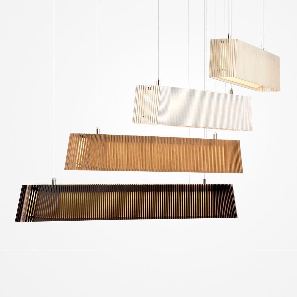LED Pendelleuchte Owalo 7000 aus Holz 100cm 3