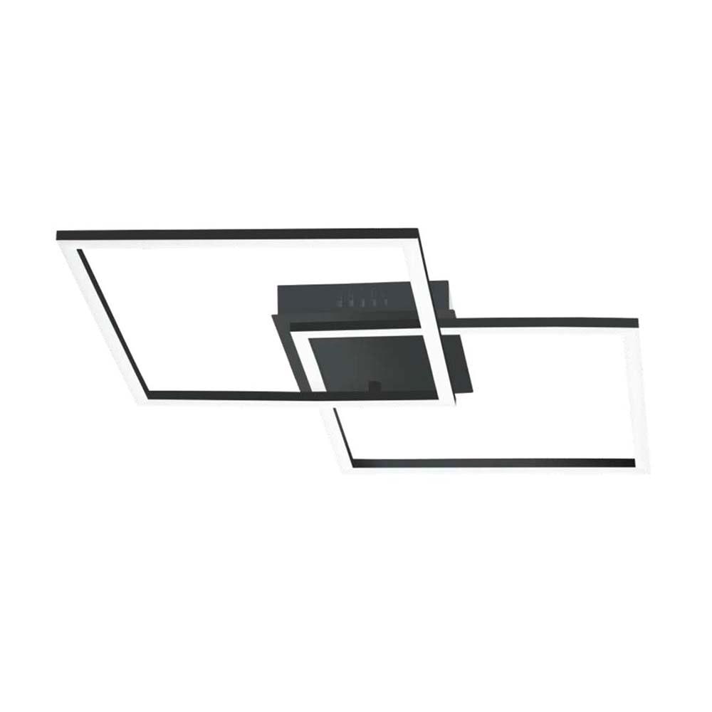 Licht-Trend LED-Deckenlampe Serami eckig Schwarz