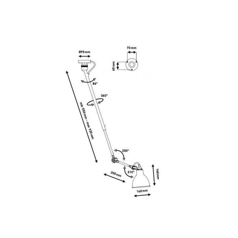 DCW Gras N°302 Deckenlampe mit Ausleger thumbnail 5