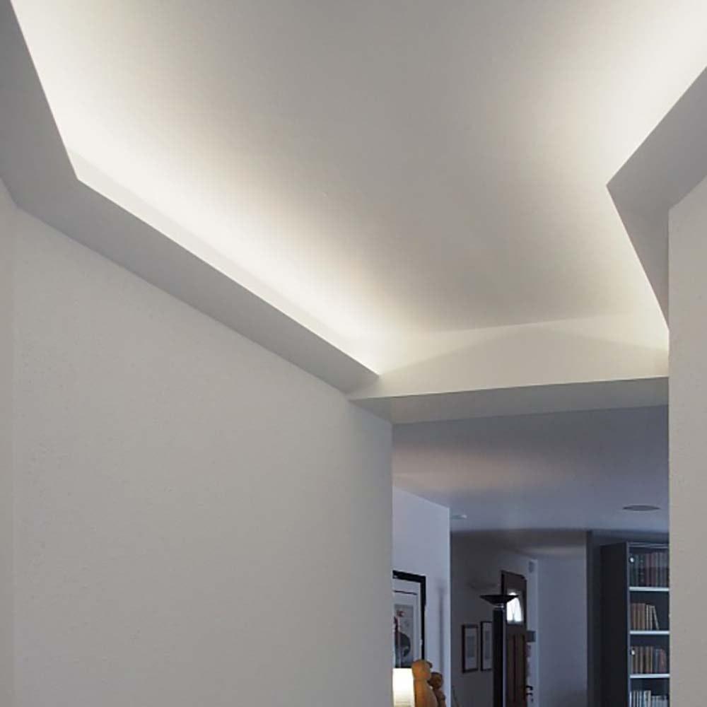 Dekor-Profil 6cm Stuckleiste 1,2 m indirekt Wand oder Decke 7