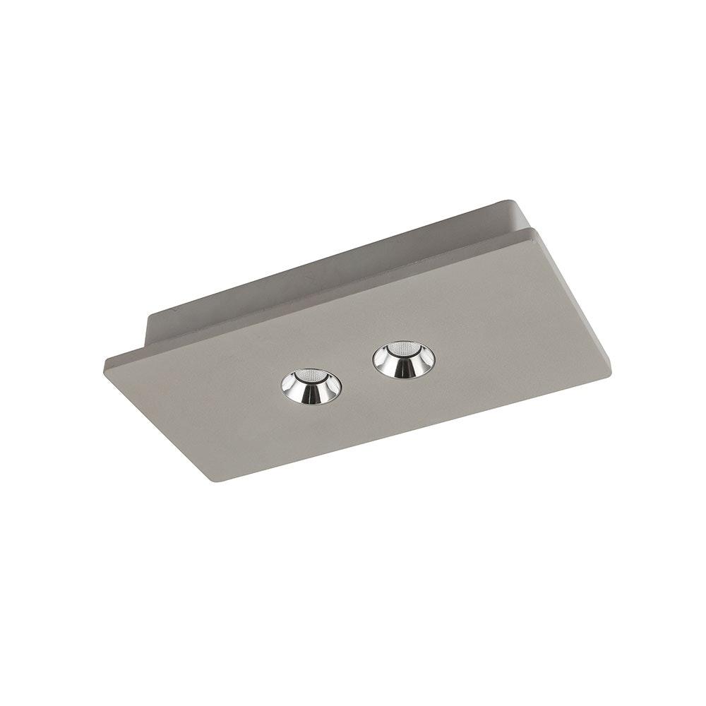 Licht-Trend LED Beton 2er-Deckenlampe Macae Grau 2