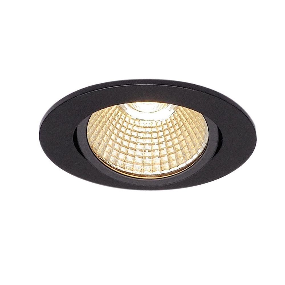 SLV New Tria 68 LED DL Round Set Schwarz 9W 38° 3000K inkl. Treiber 1