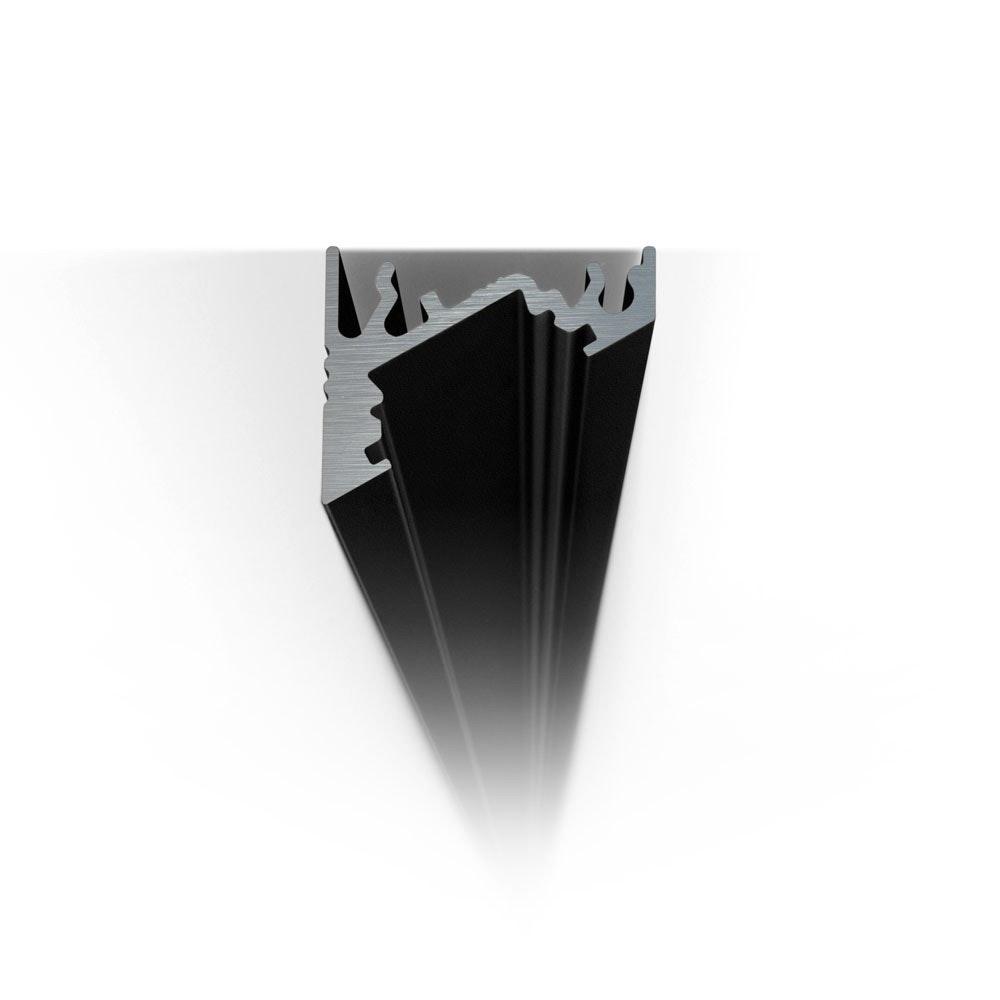 Aufbau-Eckprofil 30° 200cm Schwarz ohne Abdeckung für LED-Strips 2