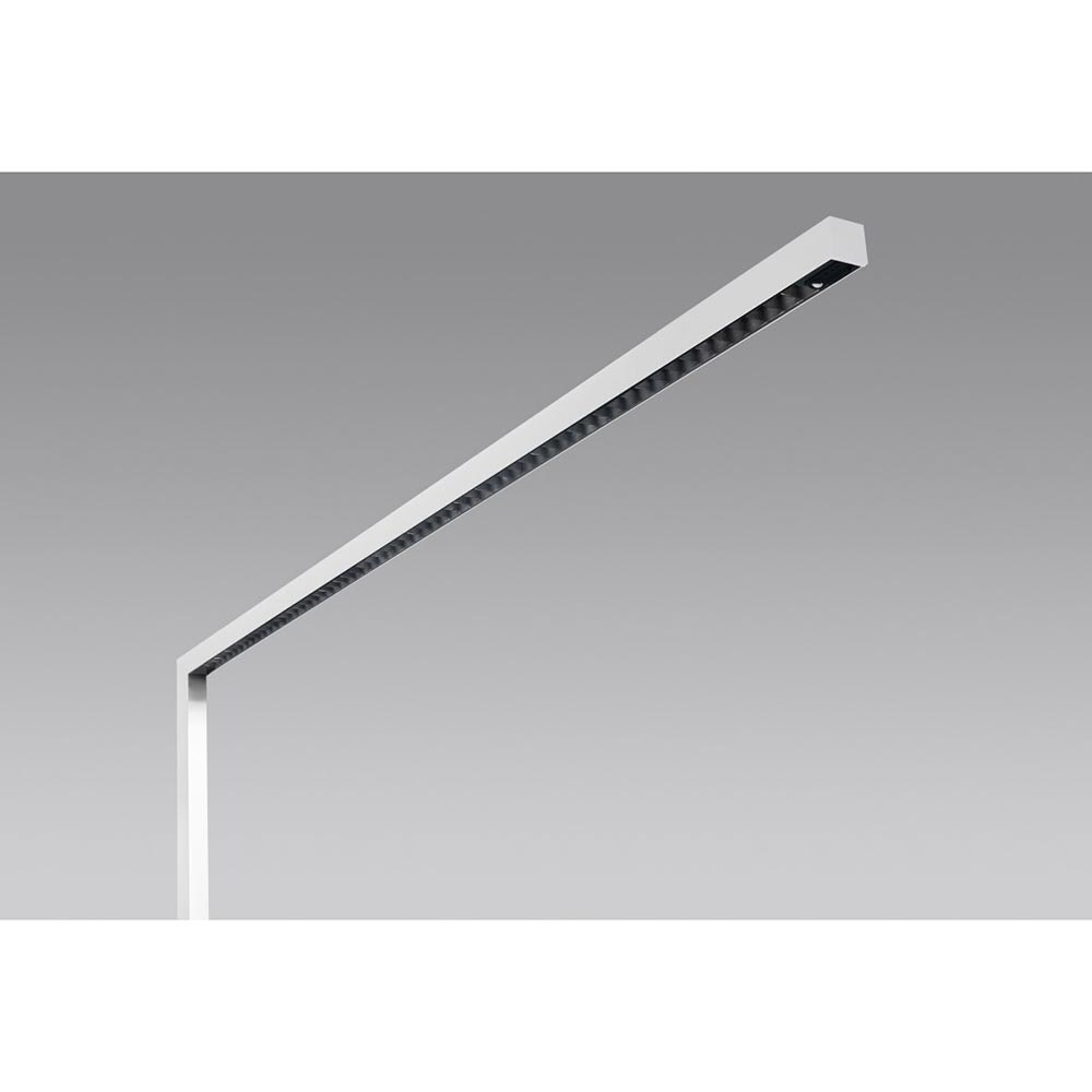 Molto Luce Lens Single Büro Stehleuchte 6100lm up & down Weiß dimmer 1