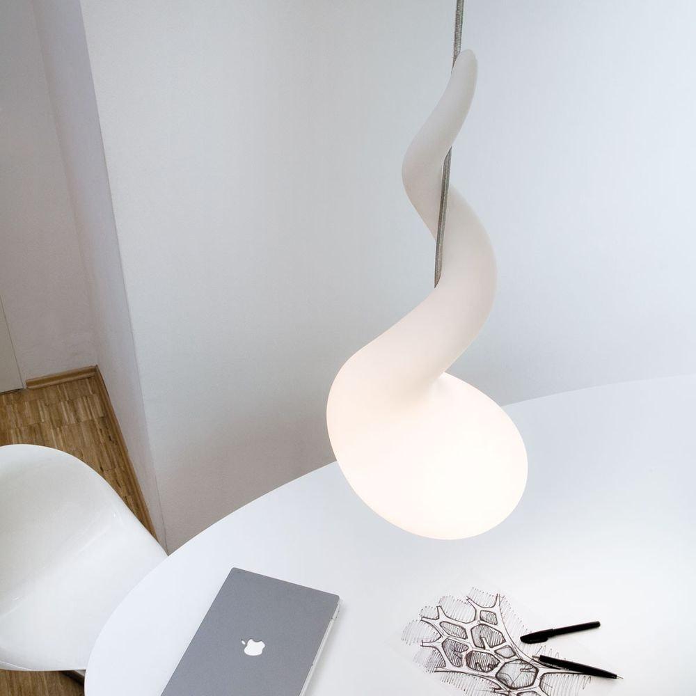 Alien M Pendelleuchte H: 65cm Liquid-Light Weiß 4
