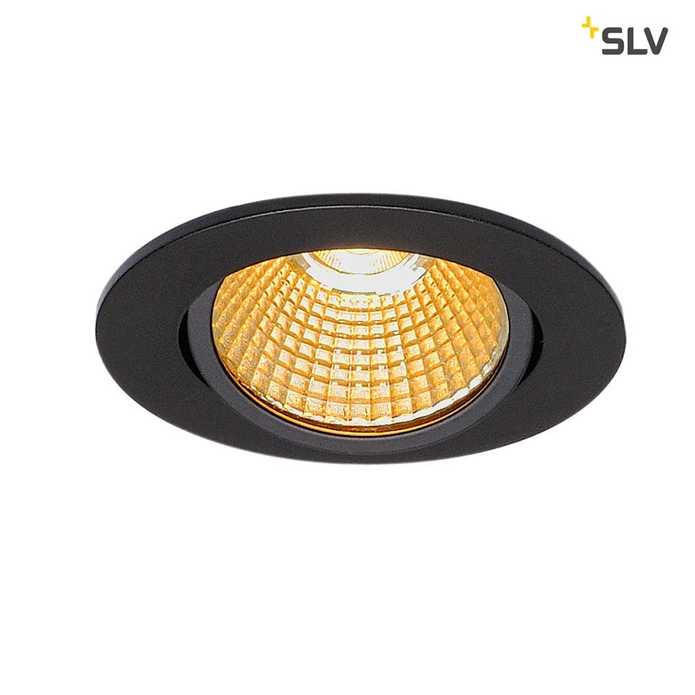 SLV New Tria Rund LED Einbauleuchte Schwarz 1800-3000K 3