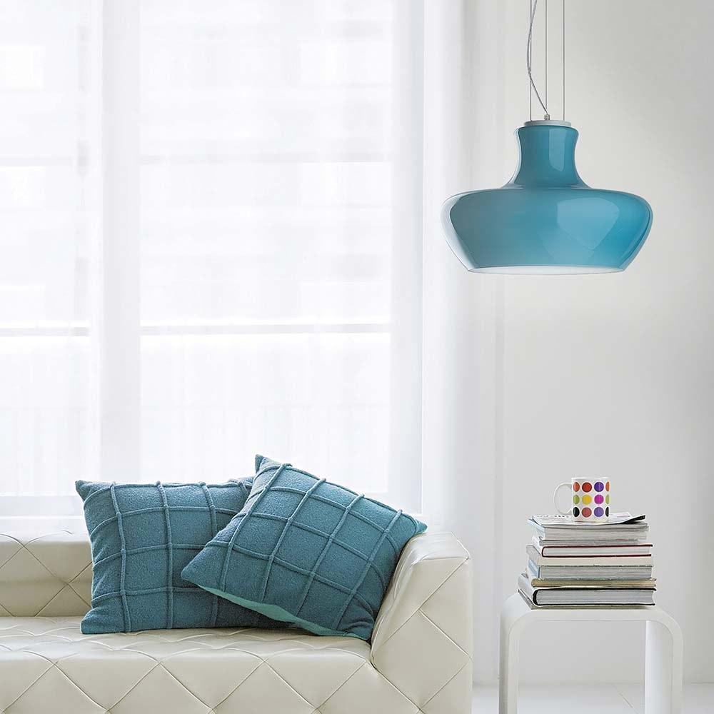 Ideal Lux Hängeleuchte Aladino Sp1 D45 Blau