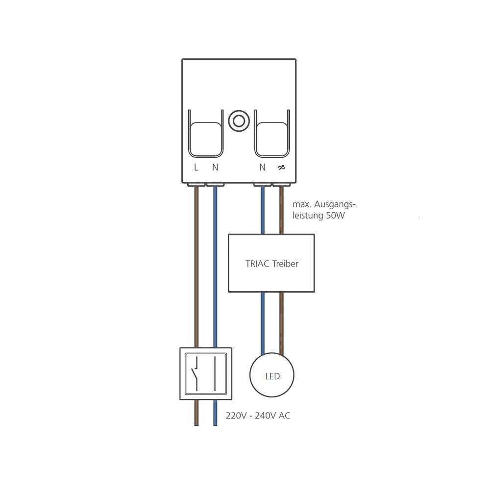 CASAMBI TED Modul Controller Phasenabschnitt Leuchten  2