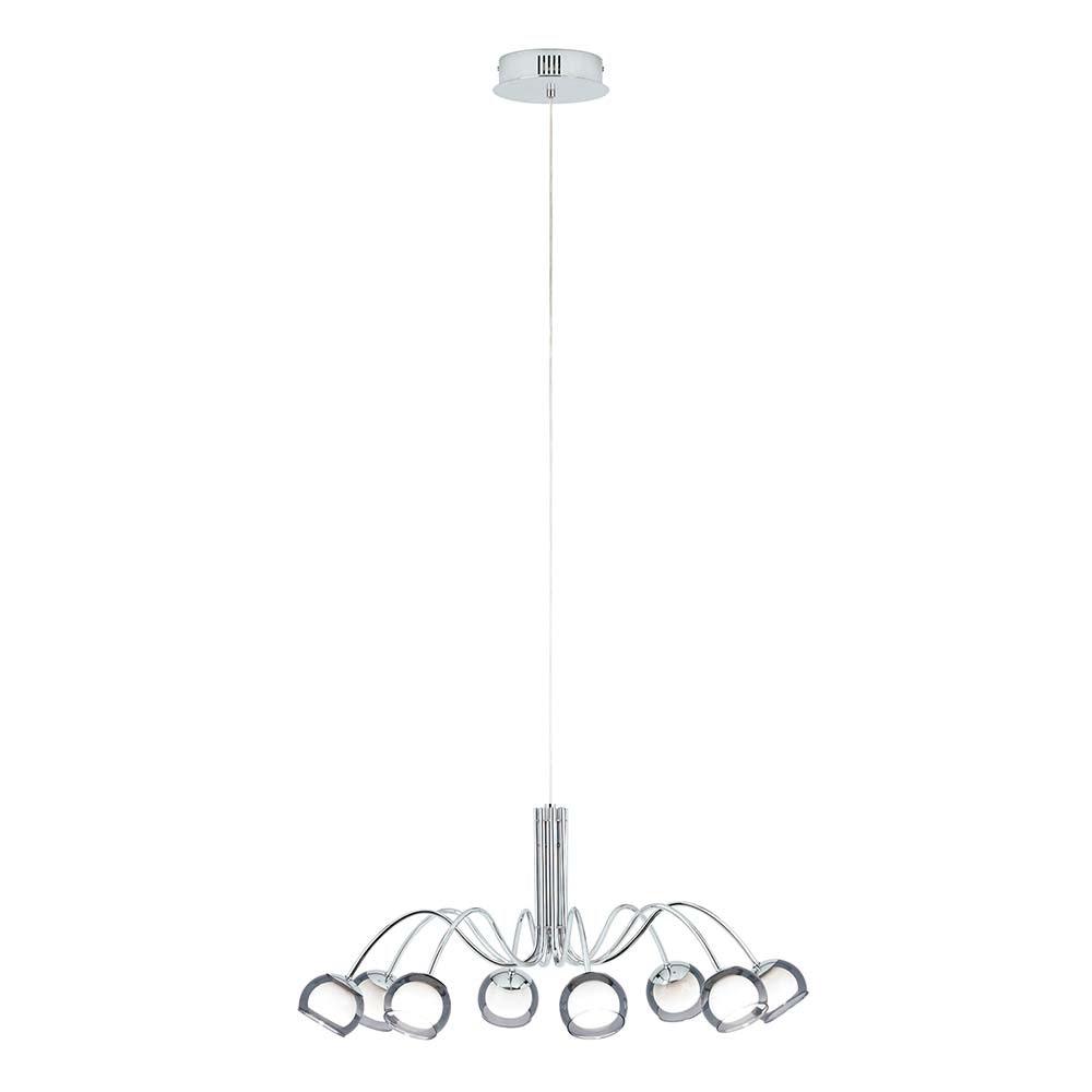 Glas LED Hängelampe Malagon 2720lm Chrom, Schwarz 2