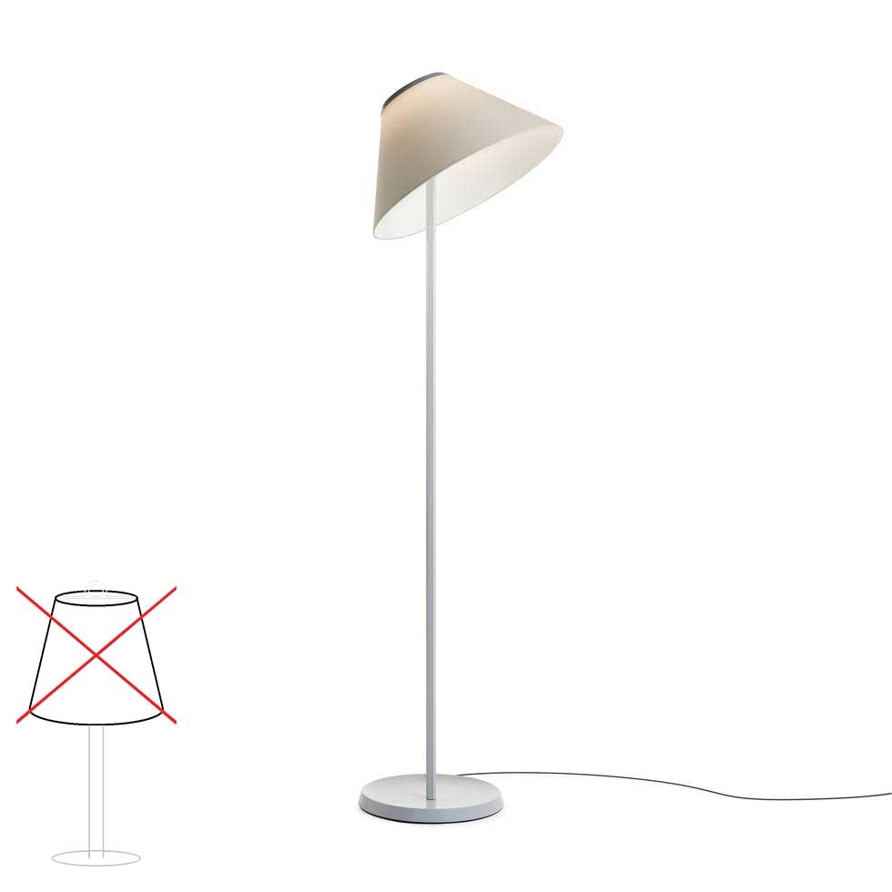 Luceplan Cappuccina LED Stehlampe (Body ohne Schirm) Dimmbar 12W 2700K thumbnail 4