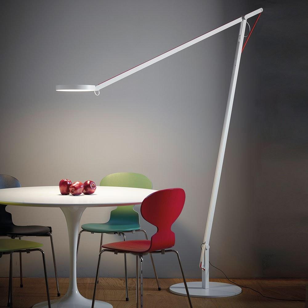 String XL LED-Stehleuchte mit Dimmer Schwarz-Orange 3