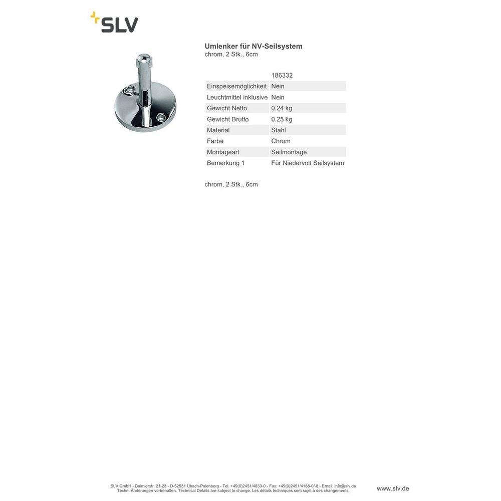 SLV Umlenker für NV-Seilsystem chrom 2 Stk. 6cm 2