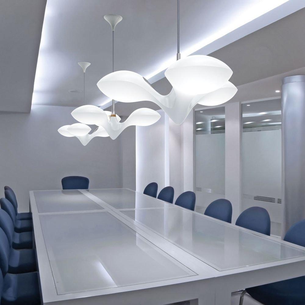 LED Hängeleuchte Enterprise 3-flammig Chrom, Holz, Weiß 3