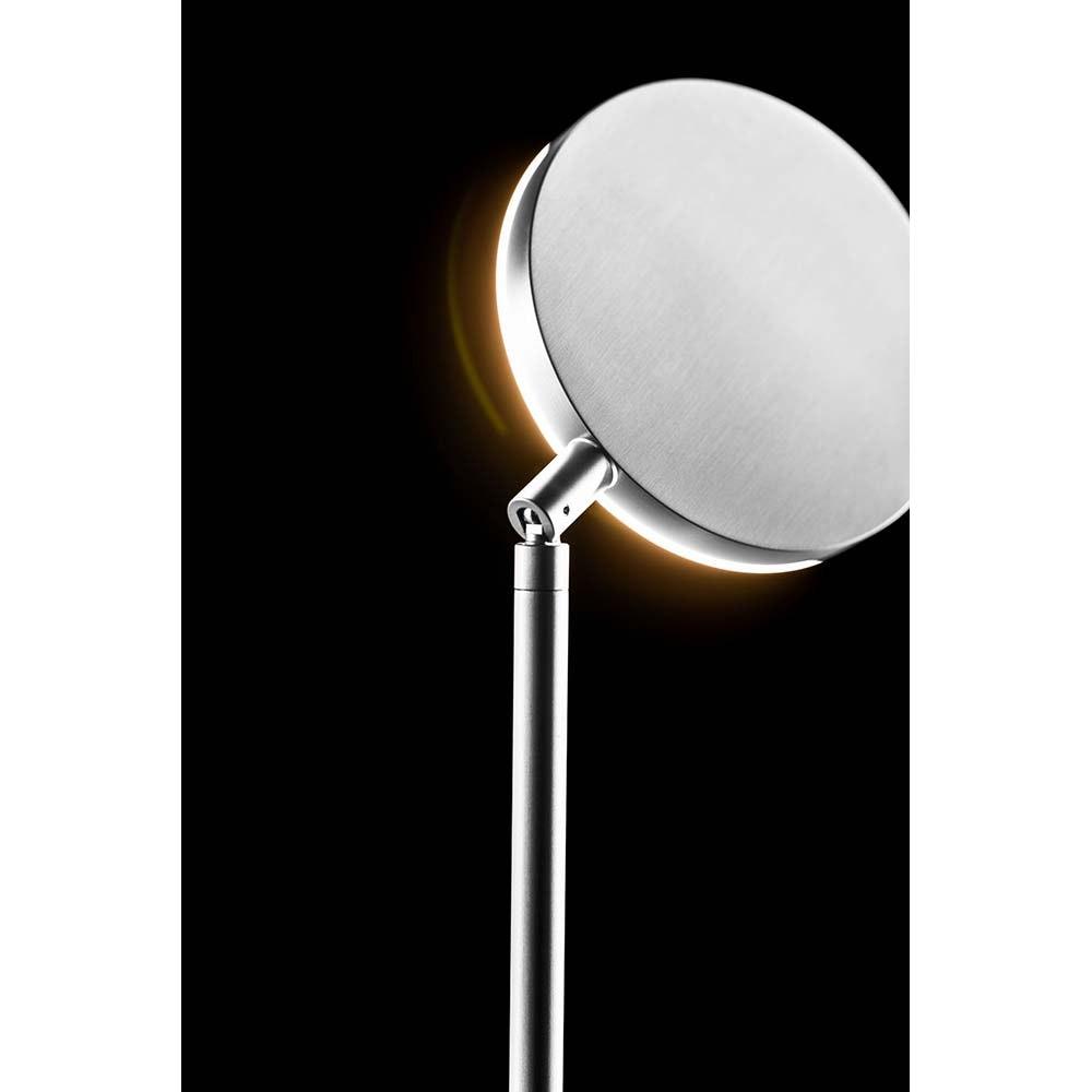 Holtkötter LED-Stehleuchte PLANO S Alu-Matt mit Tastdimmer 2200lm 2700K 2