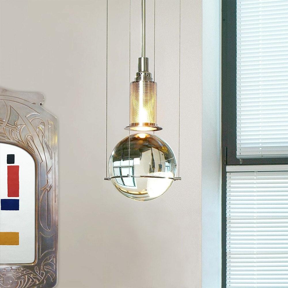 Tecnolumen LED-Hängeleuchte Le tre streghe  Muranoglas Chrom 3