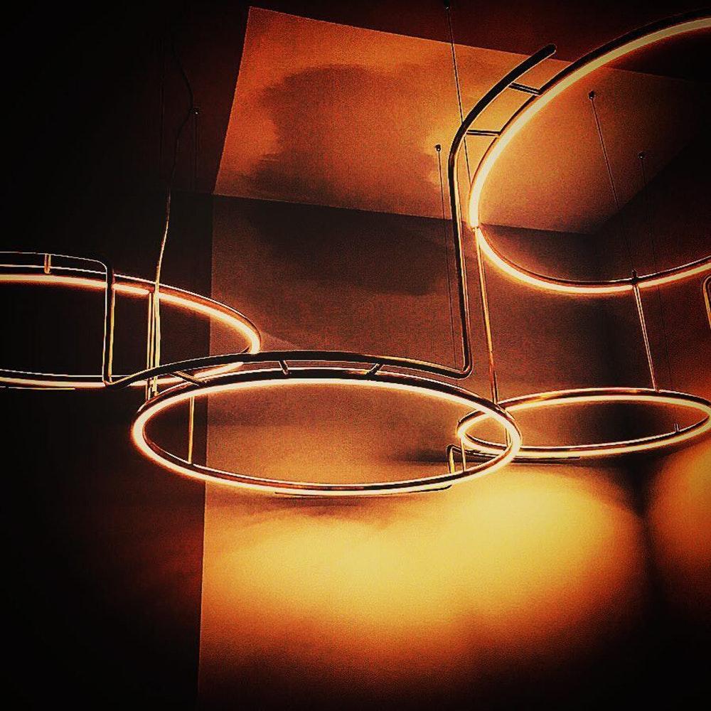 DCW Broche LED Kronleuchter Messing-natur thumbnail 6