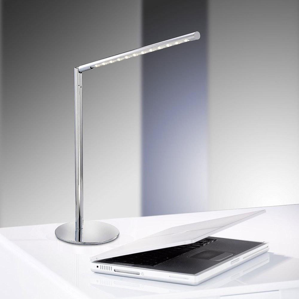 Dawda Tischleuchte Stahl LED