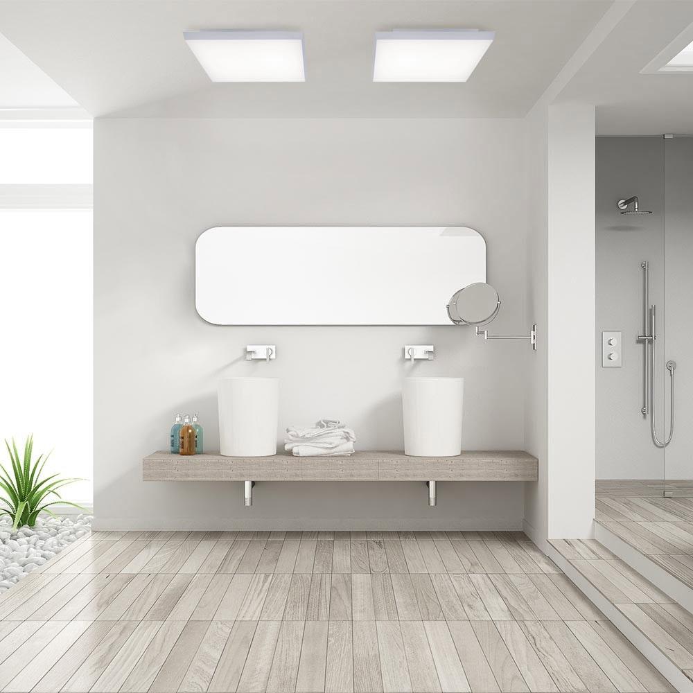 Q-Flat 2.0 rahmenlose LED Deckenleuchte 45 x 45cm CCT + FB Weiß thumbnail 4