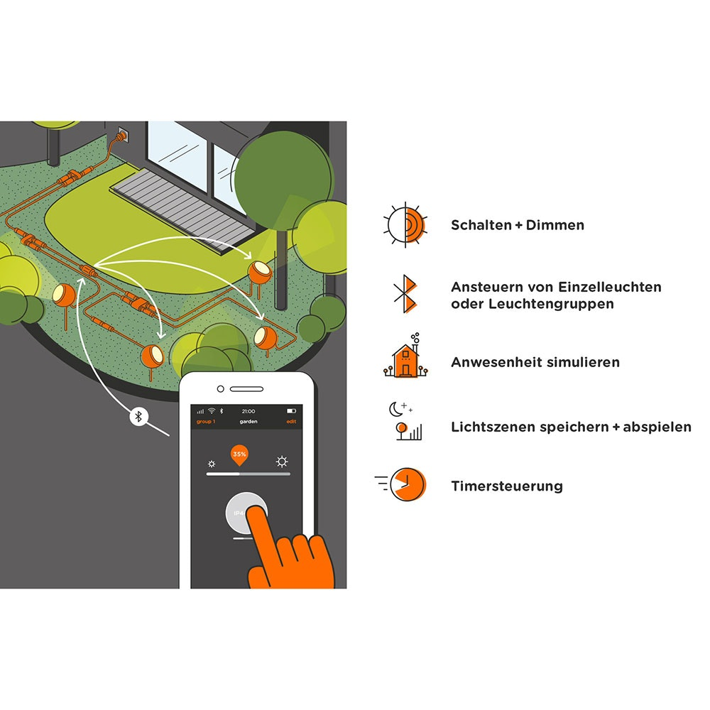 IP44.de LED-Bodenspießleuchte Pad Connect IP65 thumbnail 6