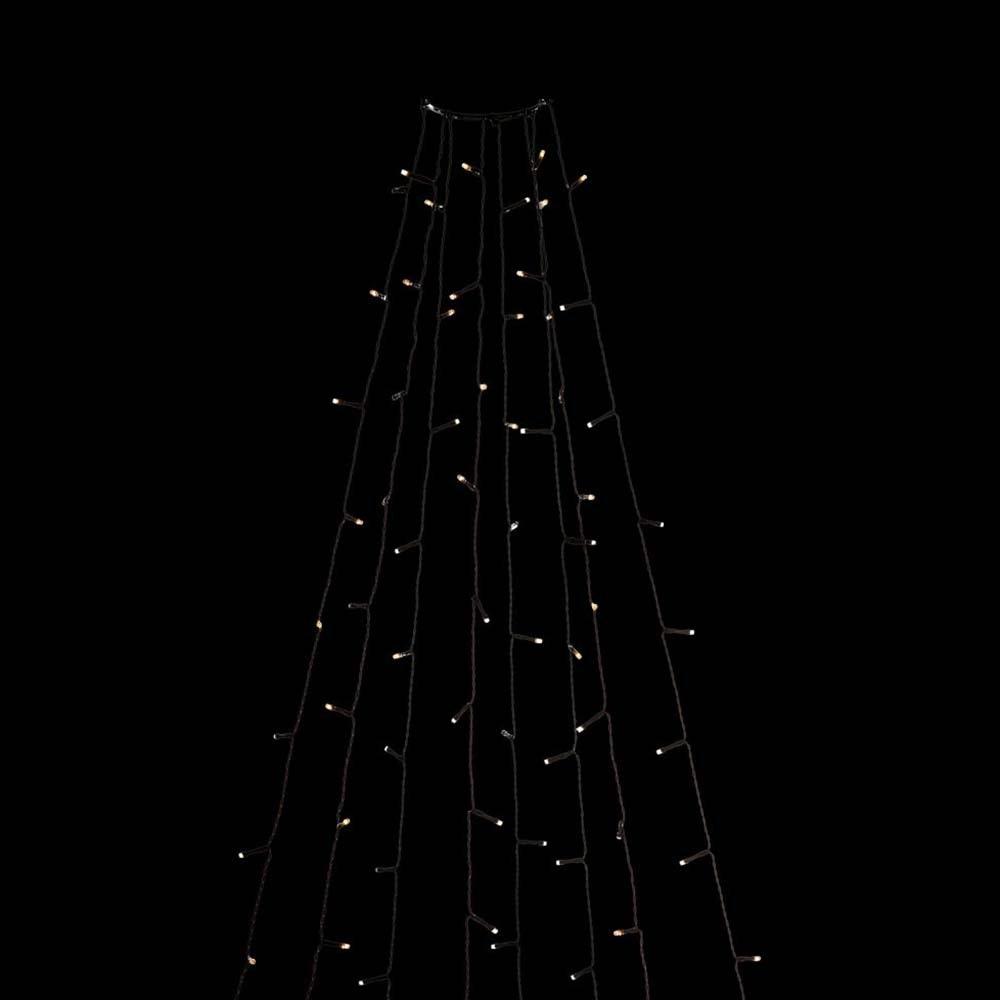 LED Baummantel mit Ring 8 Stränge mit 50 Dioden Glimmereffekt 400 bernsteinfarbene Dioden IP44 2