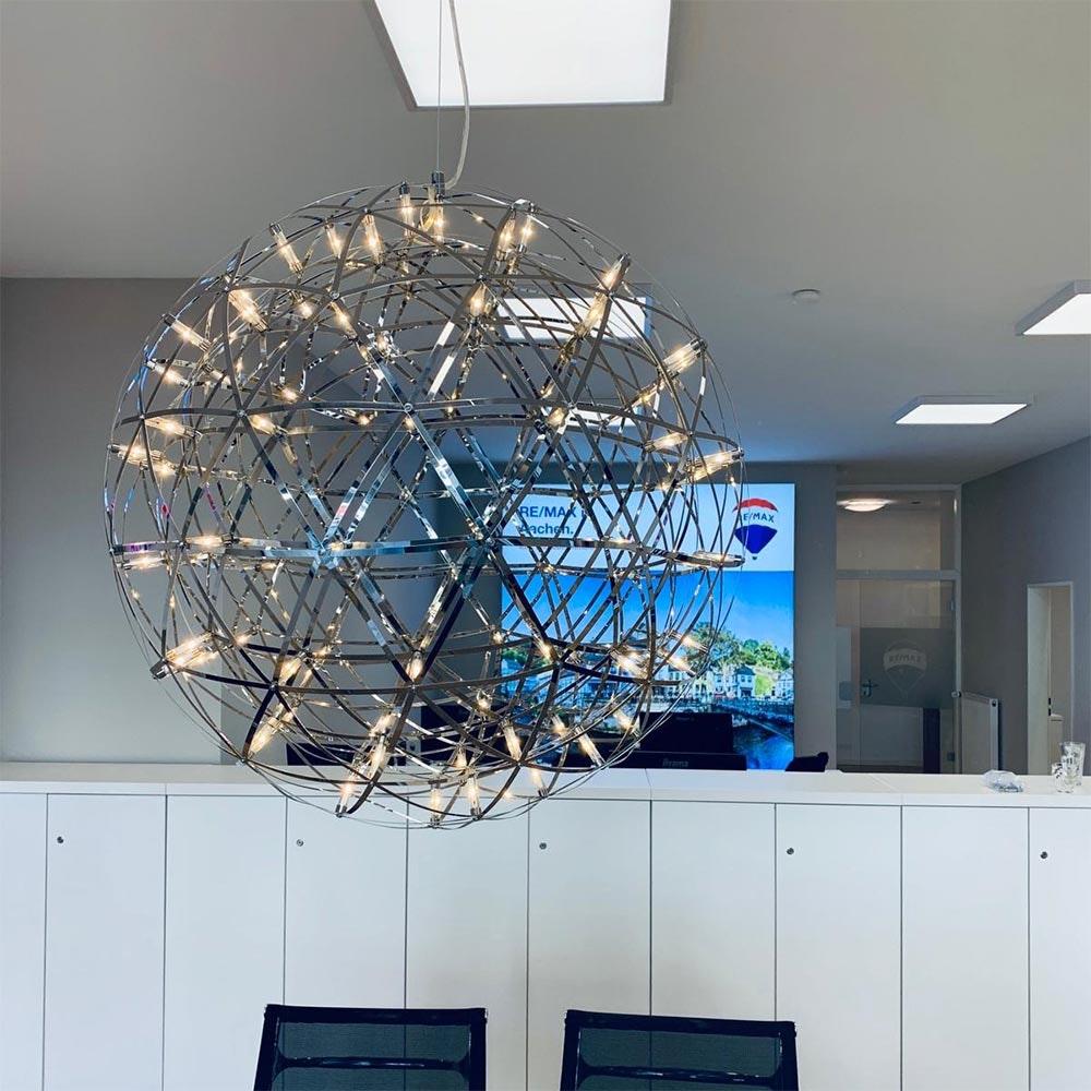 s.LUCE pro Atom 50 LED-Hängeleuchte Metallkugel 1134lm Chrom thumbnail 6