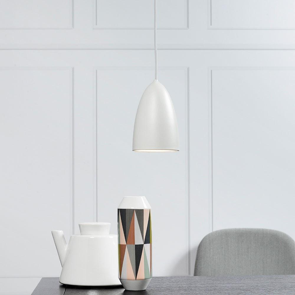 MiraMira LED Pendelleuchte Ø 10cm Weiß