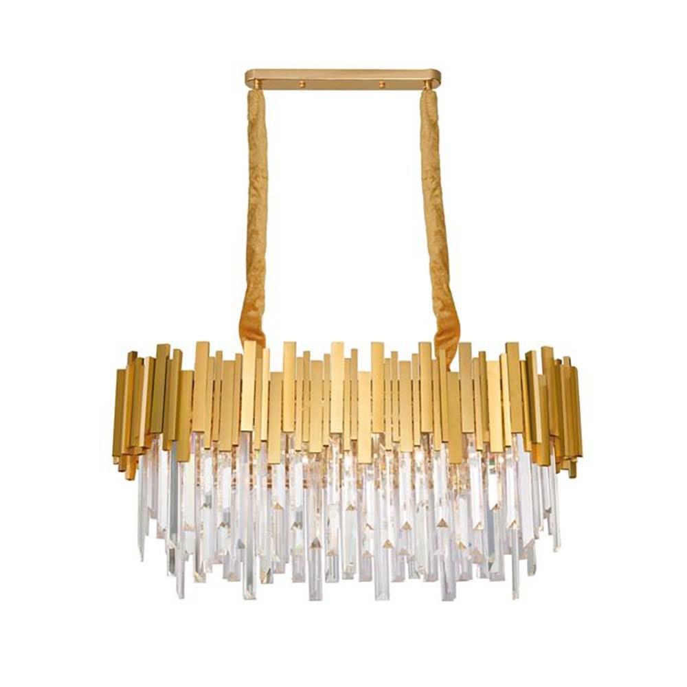 Nova Luce Kronleuchter Grane aus Metall Gold 2