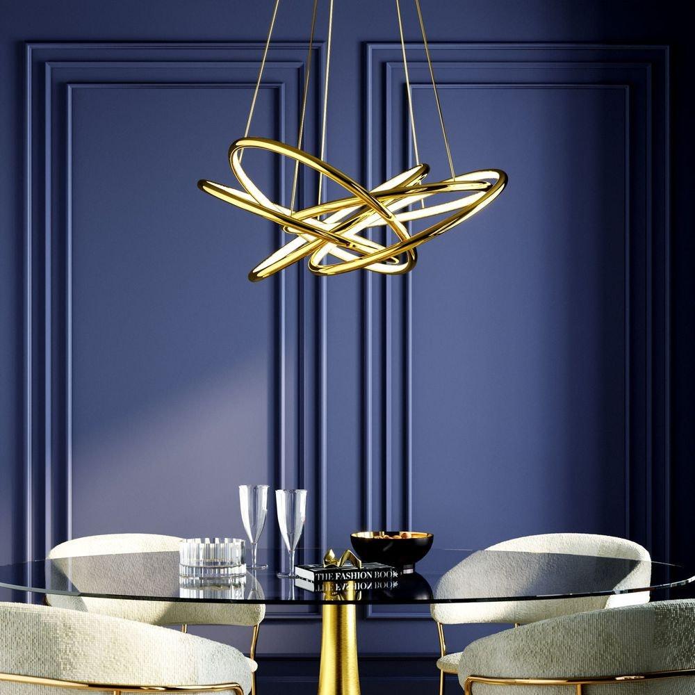 KARE LED-Hängeleuchte Saturn LED Gold Big 1
