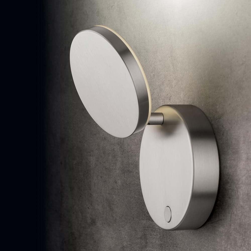 Holtkötter LED-Wandleuchte PLANO WD Alu-Matt mit Tastdimmer 2000lm 2700K 1