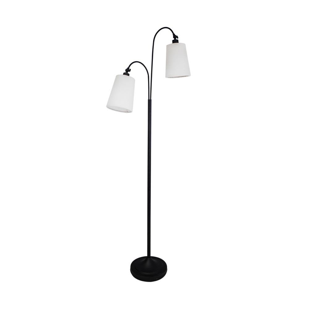 By Rydens Stehlampe Duetto 170cm Schwarz, Weiß
