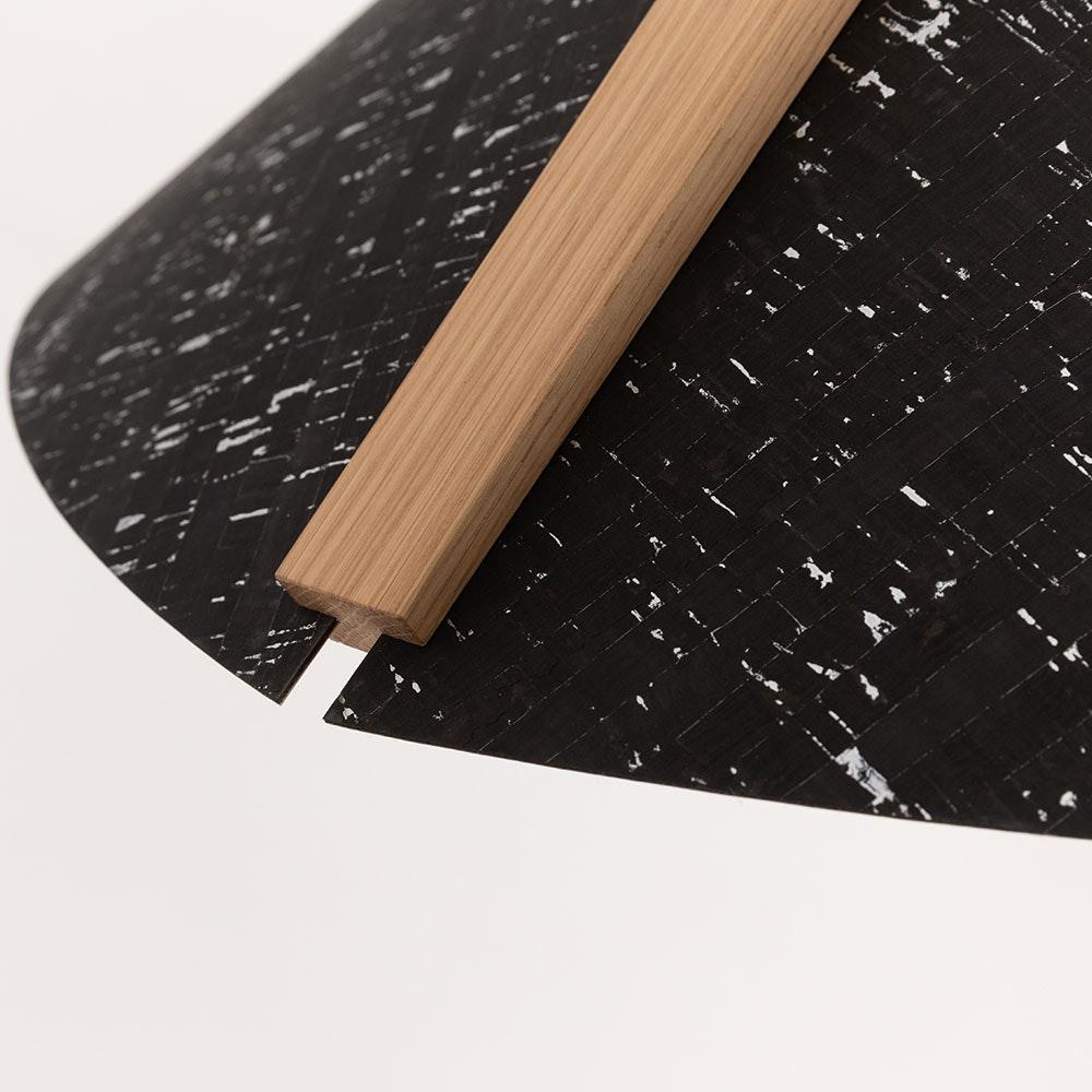 Holz Hängelampe mit Schirm Ø 62cm Konisch thumbnail 3