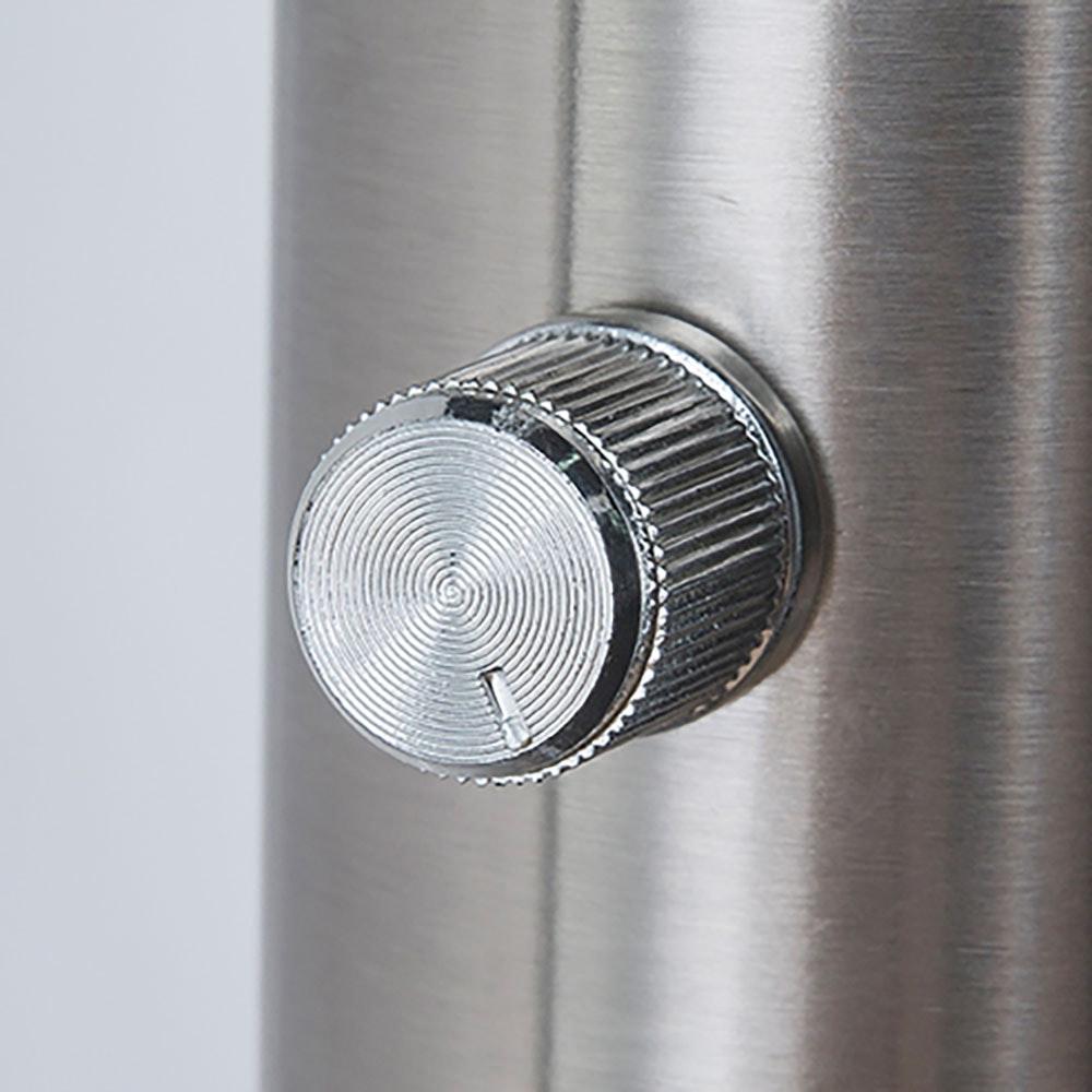 LED Stehleuchte Roslin 10 x Flexo Nickel-Matt, Opal, Weiß 6