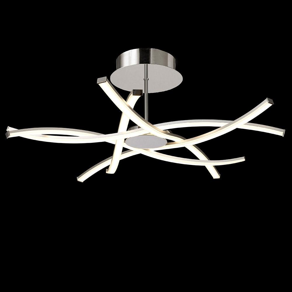 Mantra Aire LED-Deckenlampe geschwungen + dimmbar