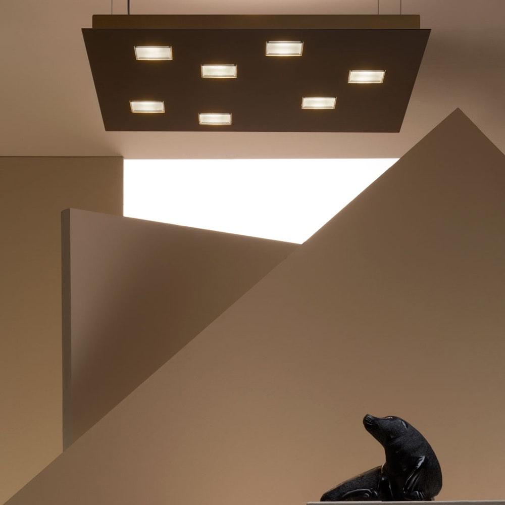 Fabbian Quarter LED-Deckenleuchte quadratisch 7-flammig 1