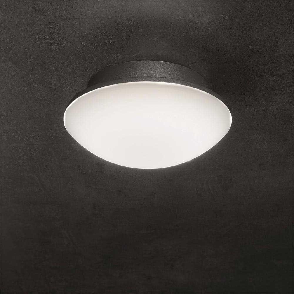 LED Außenwand- & Deckenleuchte Mini IP54 Ø 14cm Anthrazit 5