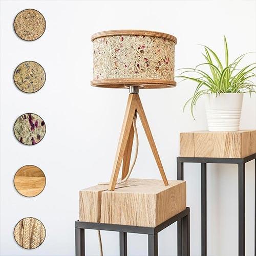 Holz Tischlampe