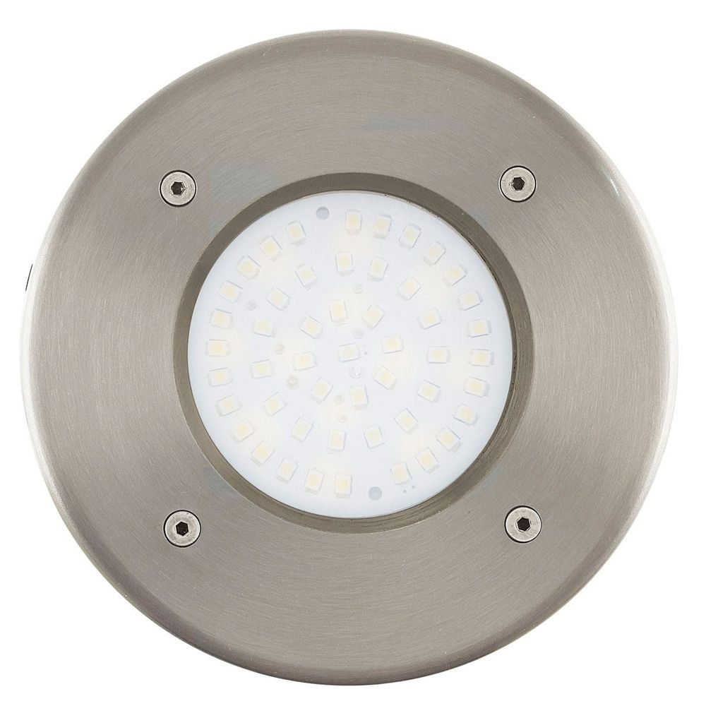 Lamedo LED Aussen-Bodeneinbauleuchte Ø 10,2cm Edelstahl, Klar