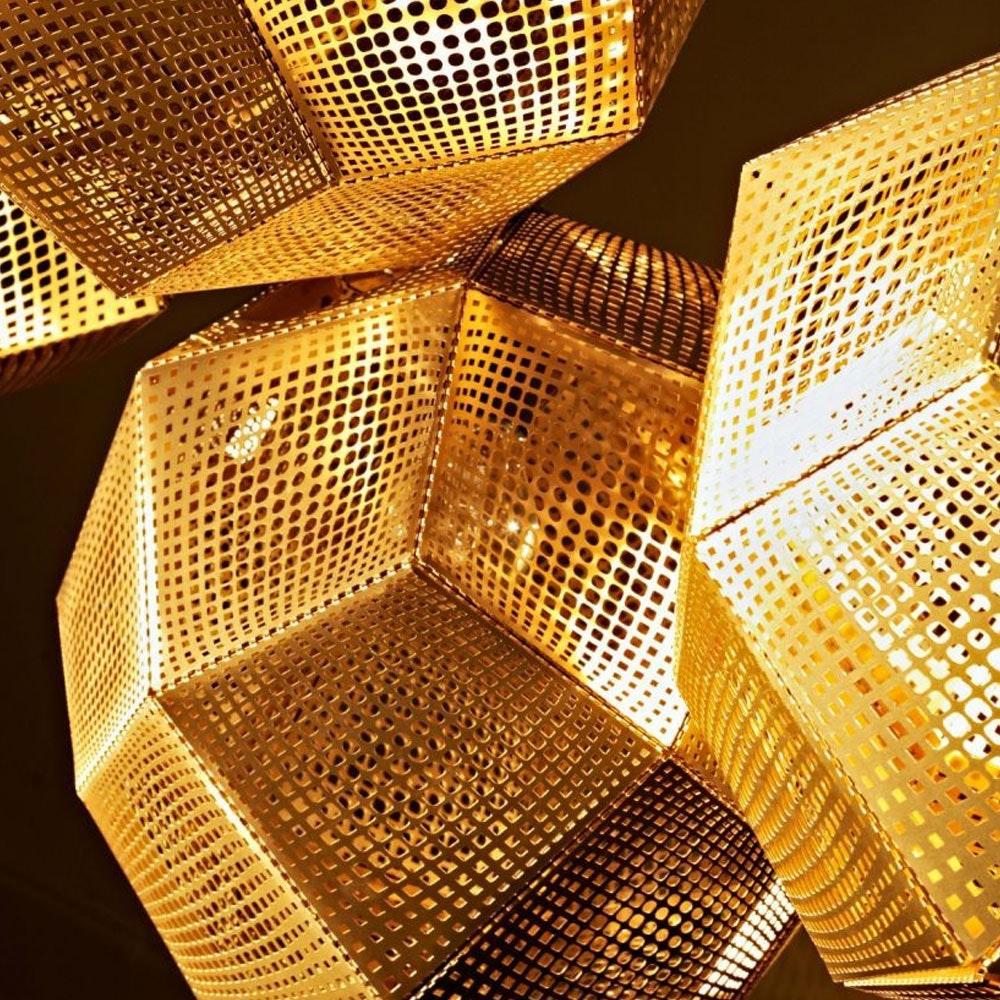 Tom Dixon Etch 3er Mobile Pendellampe Gold thumbnail 4