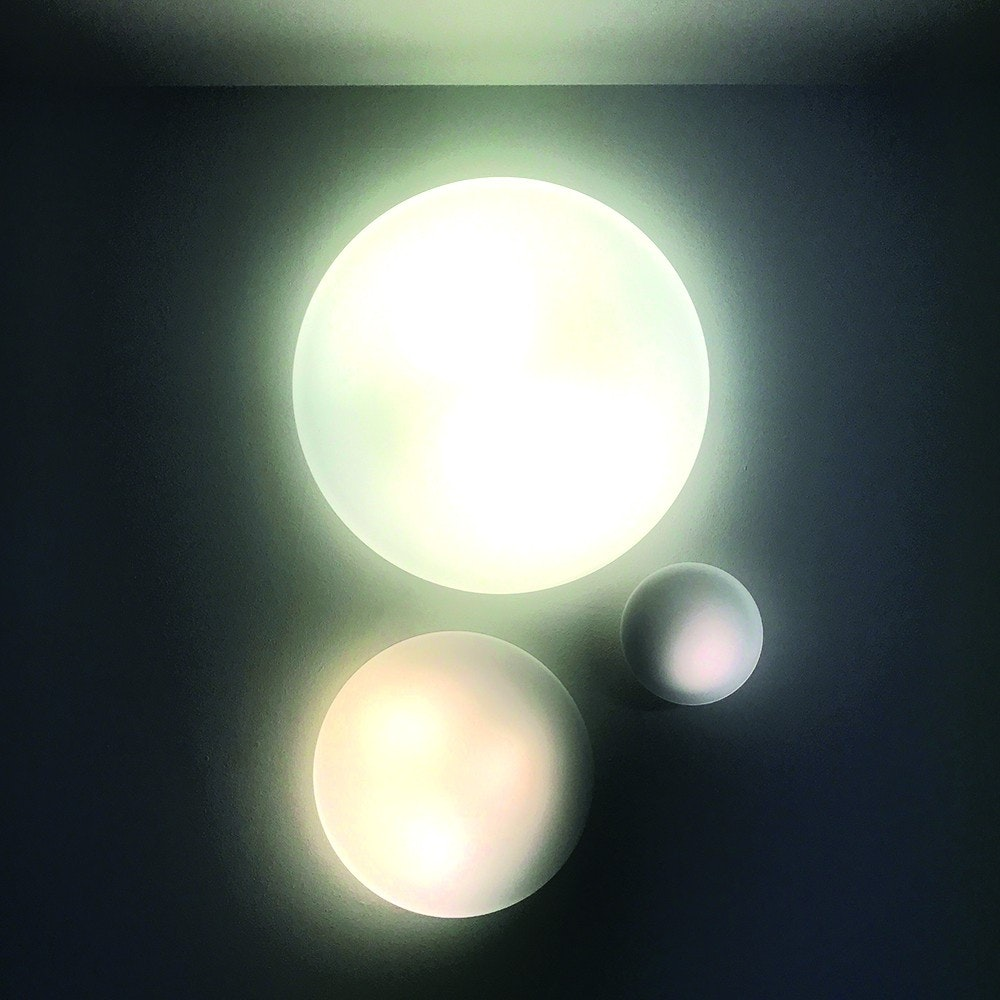 s.LUCE Pane 45 puristische Glas Decken-& Wandleuchte Weiß 9