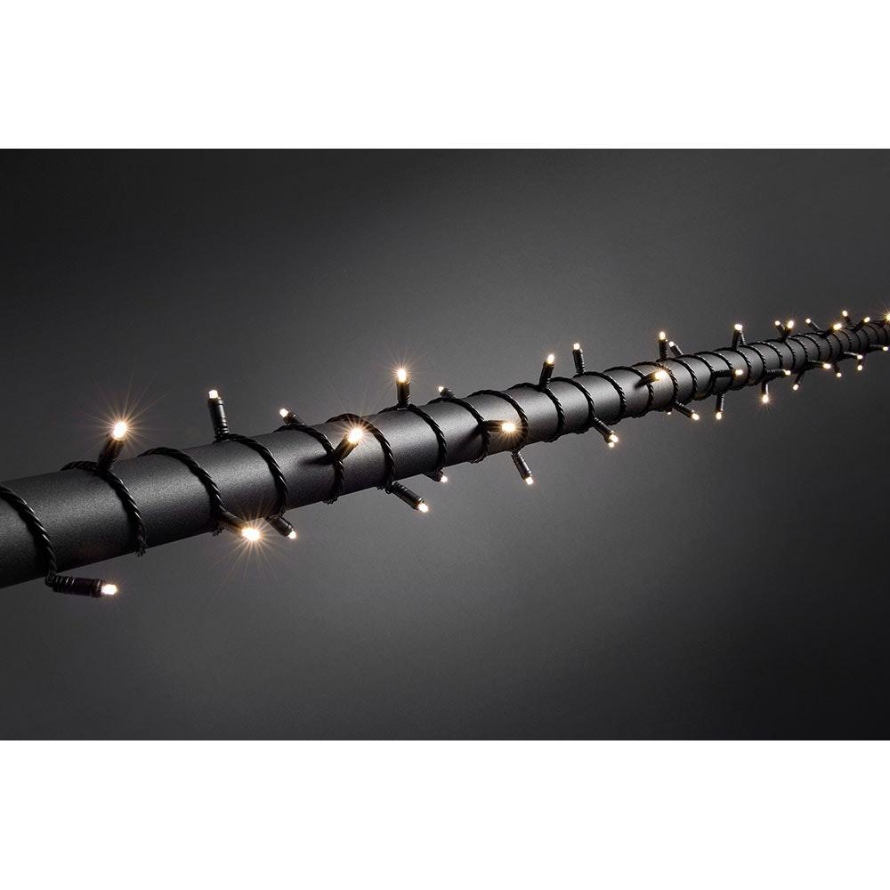 Micro LED Lichterkette mit 9h Timer IP67 120 Warmweiße Dioden IP44 1