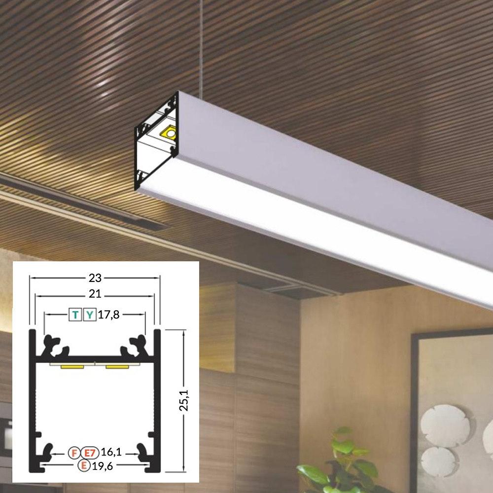 LED Aluminium Profil 2m alle Varianten  1