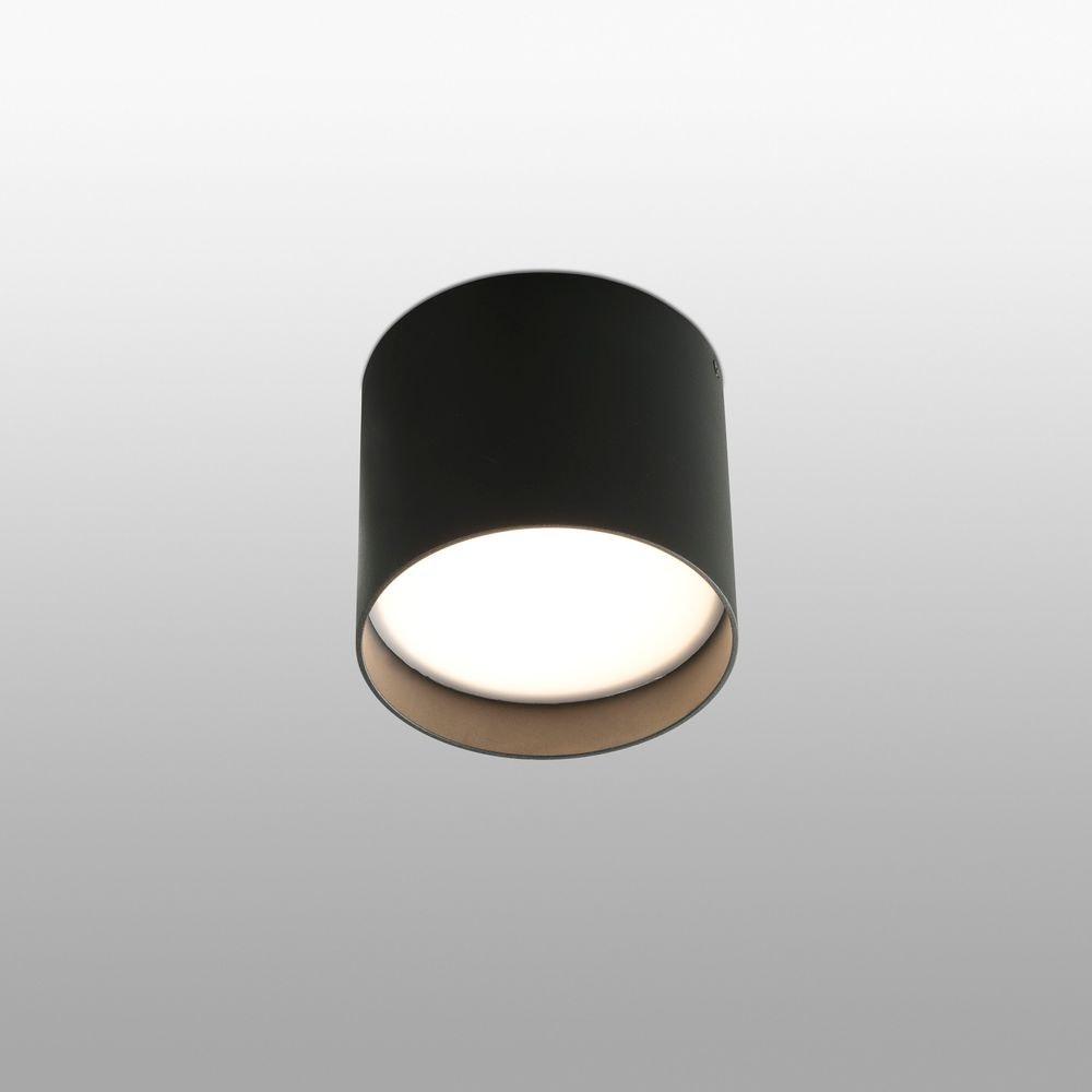 Runde LED Deckenleuchte NATSU IP20 Schwarz