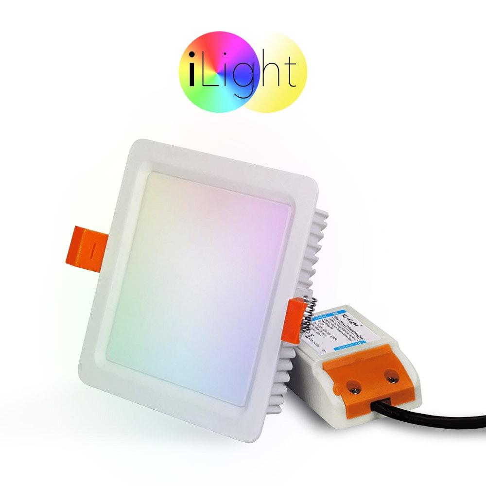 s.LUCE LED-Einbaupanel iLight 12 x 12cm 720lm RGB + CCT