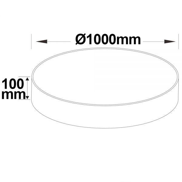 LED Hängeleuchte DM 100cm weiß 145W ColorSwitch 3000|3500|4000K dimmbar 3