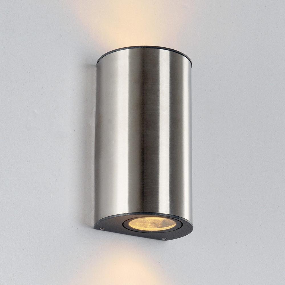 LED Außenwandleuchte Ilumi IP44 Edelstahl 1